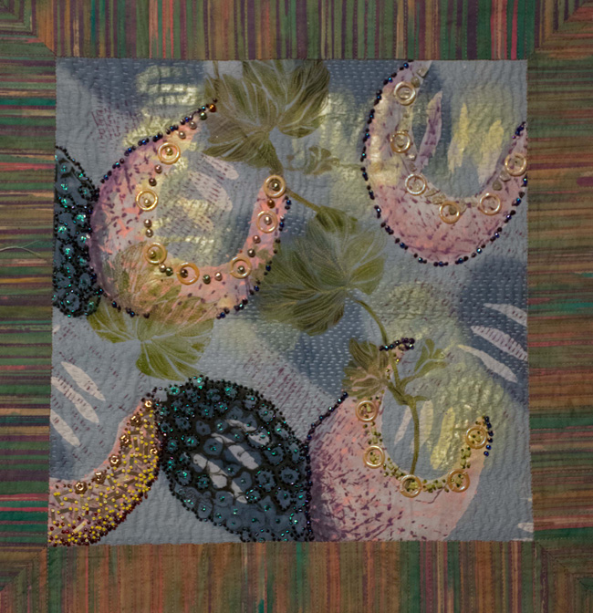 Crazy Quilt Beaded Fabric Manipulation