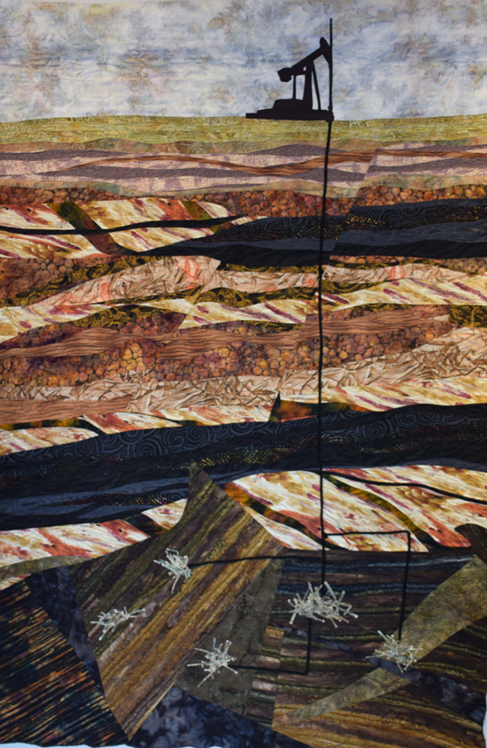 Patty Joy, Fiber Artist - Earth Series V: Dowsing, Best of Show, The Natural World: A Fragile Harmony, 2015