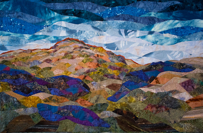 Patty Joy - Earth Series: New Mexico Skies, Art Quilt